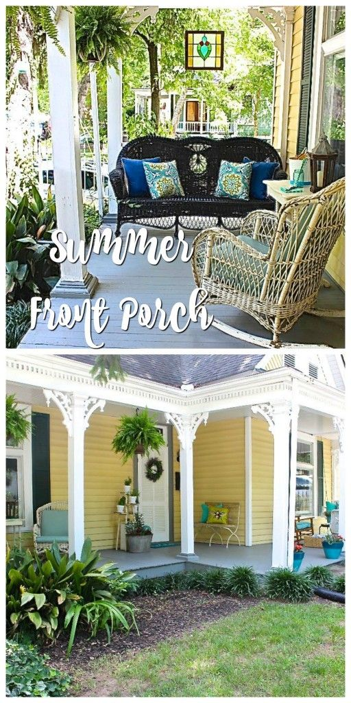 Summer Front Porch Garden Tour - 2 Bees in a Pod