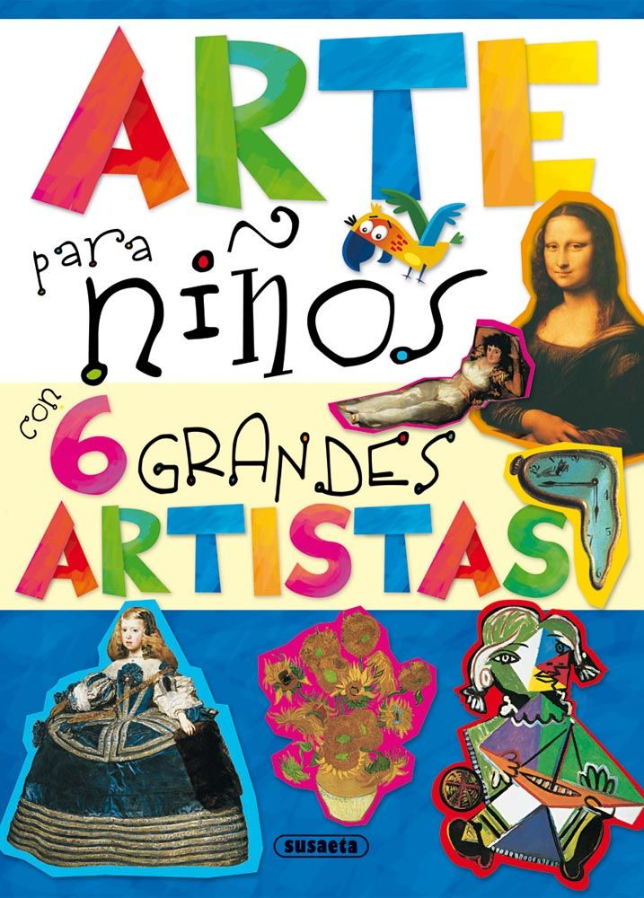 Leonardo da Vinci, Velázquez, Goya, Van Gogh... y así hasta seis grandes maestros de la pintura que te guiarán en un maravilloso viaje a través de la creatividad, el color y las formas. ¡Que lo disfrutes!