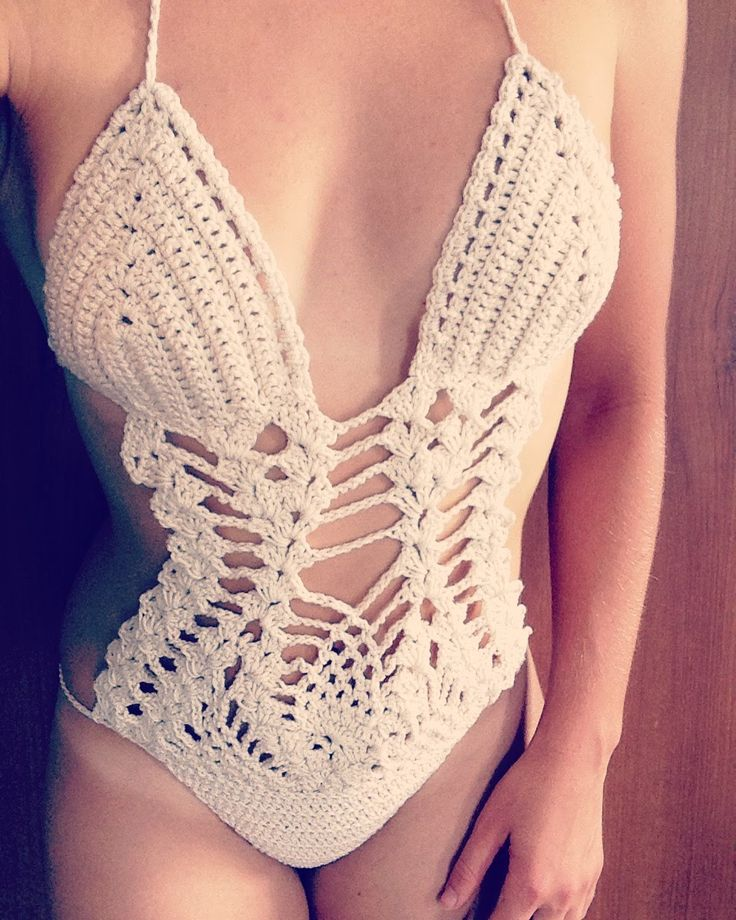 MONOKINI ALL'UNCINETTO come fare passo passo -- Monokini crochet tutorial