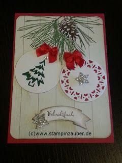 Weihnachtskarten erstellt mit dem Set Fröhliche Anhänger und Klassische Weihnacht (c) www.stampinzauber.de