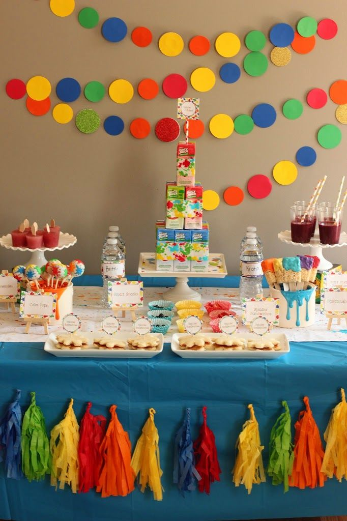 All Sorts Of Great Art Party Ideas Splatter Paint And Splash In One Amazing Birthday 2018 Pinterest