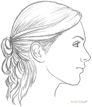How to Draw a Female Face from the Side View Step 11_2