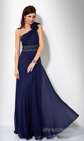 Sheath Chiffon Asymmetric Long Dress Charm86296 so pretty!