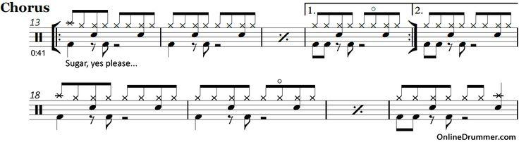 Sugar – Maroon 5 – Drum Sheet Music | OnlineDrummer.com