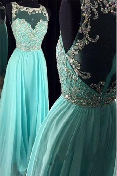 Hellblaues langes bördelndes Chiffon- Reißverschluss-rückseitiges elegantes A… – Kleid