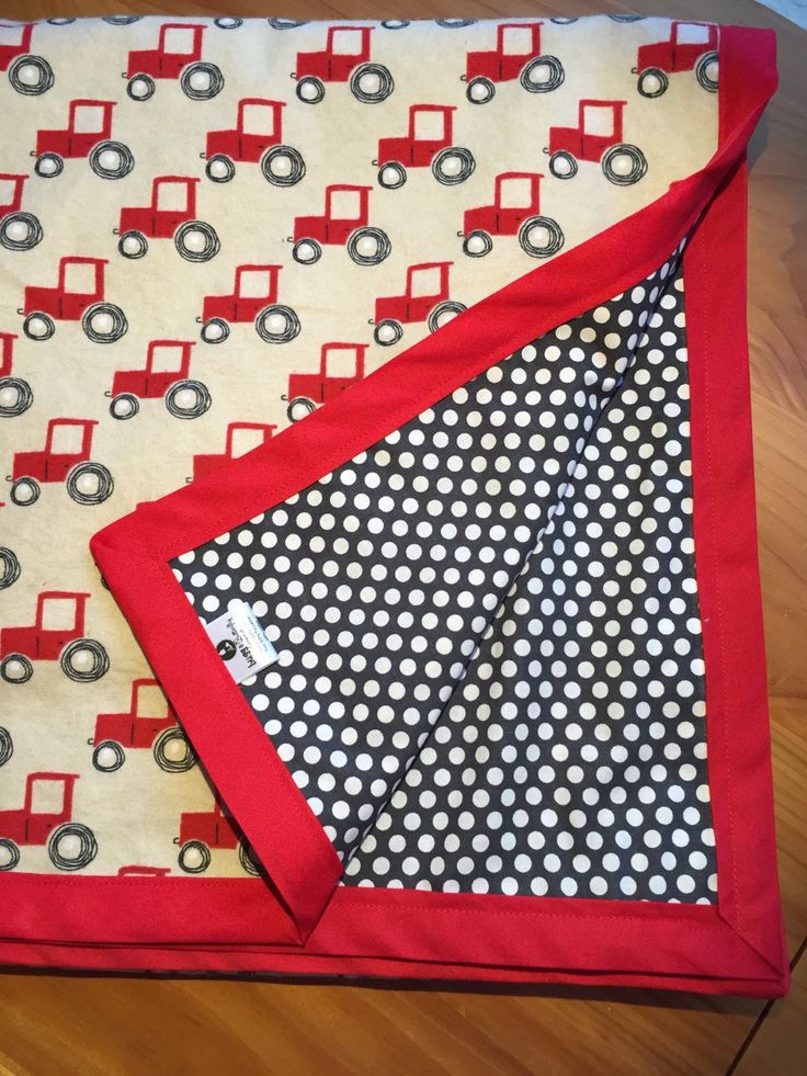 Large boys Red Tractor Blanket, boy toddler bedding, boy Red Tractor Nursery decor by BuggandButterfly on Etsy