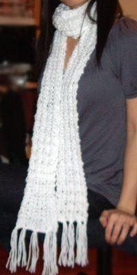 Purllin: Loose-Knit Scarf Pattern