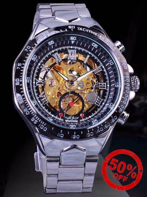 Skeleton Watch, Luxury Automatic Watch