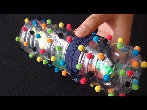 Pet şişeden ponponlu kalemlik - DIT pencilcase