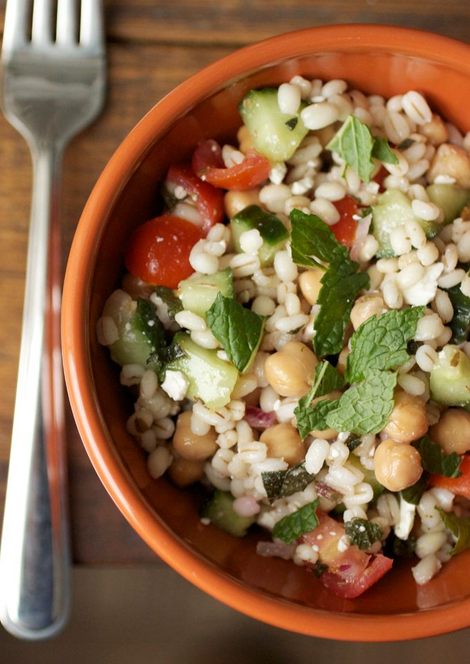 Mediterranean barley salad | salads | Pinterest | Barley Salad, Salad ...
