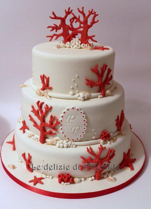 Corals cake - by Amerilde @ CakesDecor.com - cake decorating website