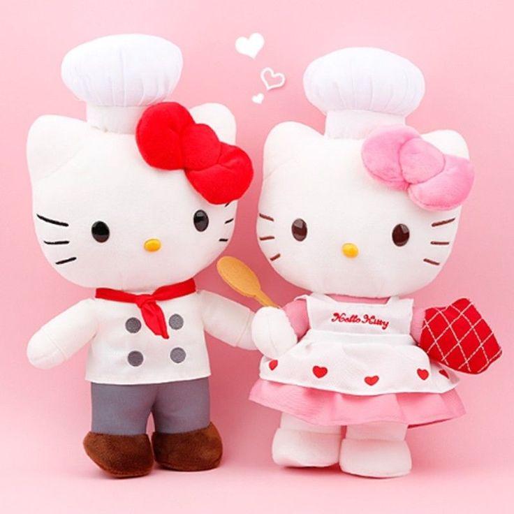 Sanrio Hello Kitty 35 cm Chef Plush Dolls 2pcs Set Gift Toy Kids Japan License