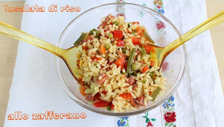 Insalata di riso allo zafferano - La cassata celiaca