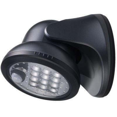 LightIt! Charcoal Outdoor Motion Sensor LED Porch Light-20034-104 - The Home Depot