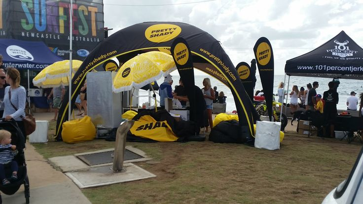Branded inflatable AXION tent