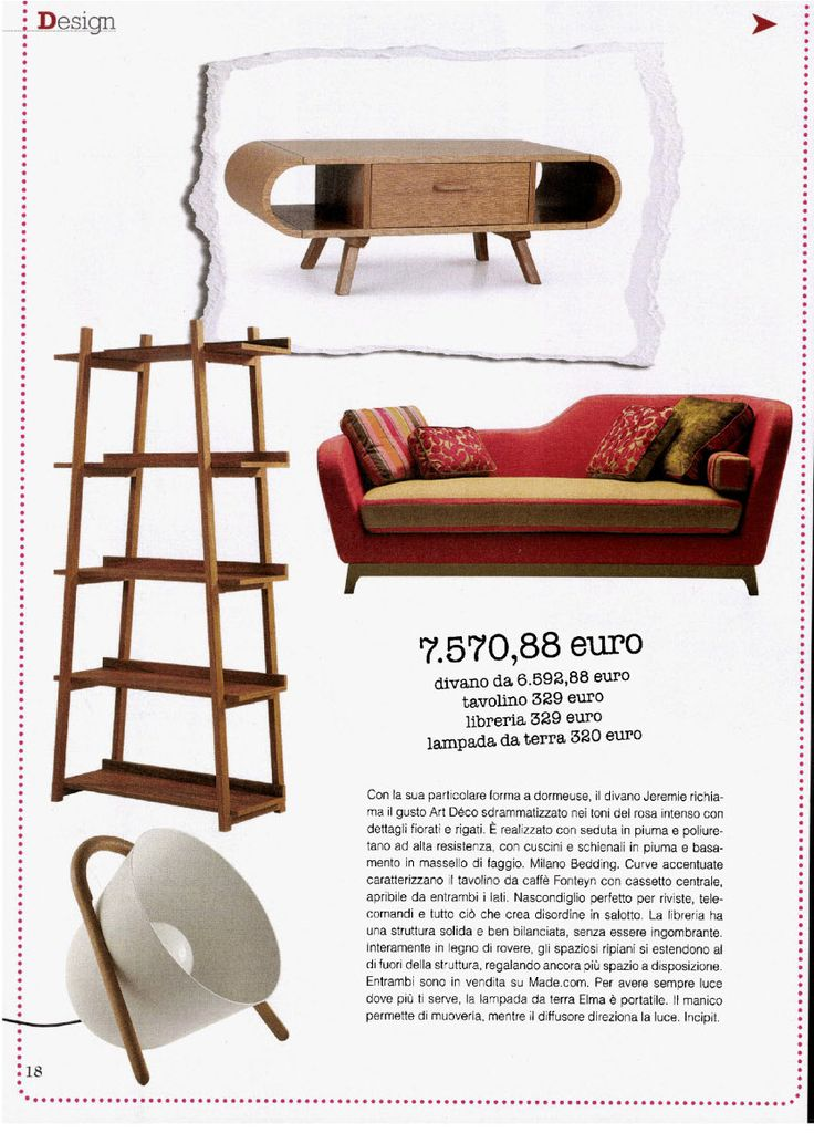 Vero Casa magazine, January issue with Jeremie #sofa.