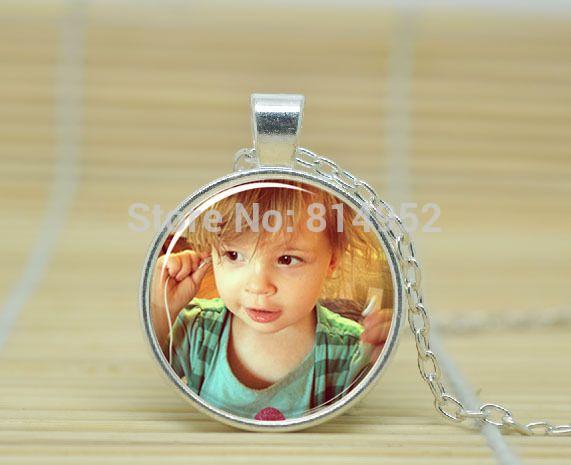 1 stuks Moederdag gepersonaliseerde foto ketting, aandenken foto sieraden glazen koepel cabochon ketting a0326