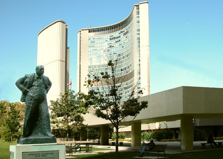 Statue of Winston Churchill, Nathan Phillips Square, City Hall, Toronto