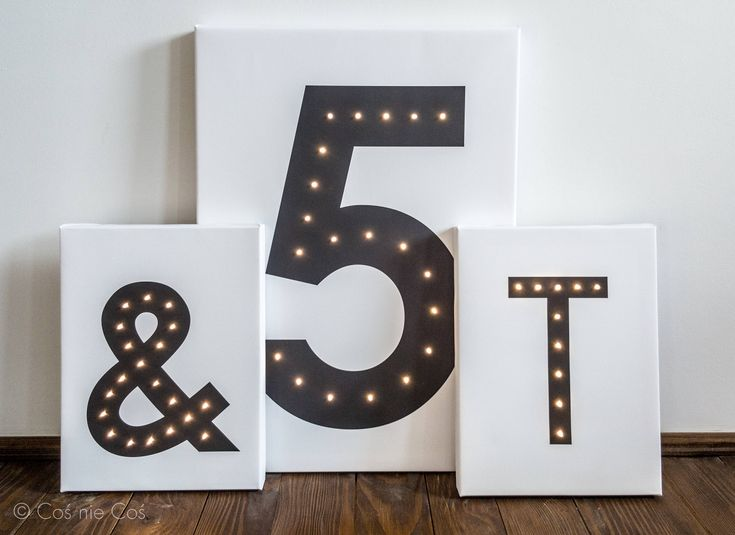 Marquee number, marquee lights, light up number, nursery night light, illuminated numbers, anniversary numbers, birthday number, led light by COSnieCOS on Etsy