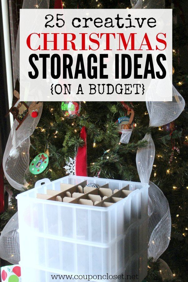 Christmas Decoration Storage Ideas - 25 Christmas Storage Ideas