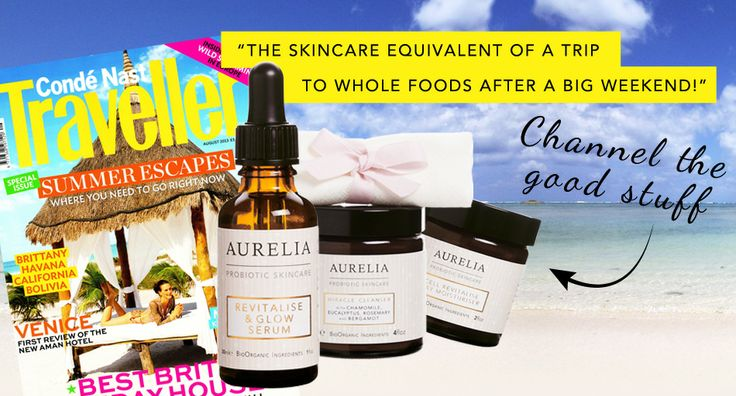 Channel the good stuff with Aurelia Skincare as featured in Conde Nast Traveller! x