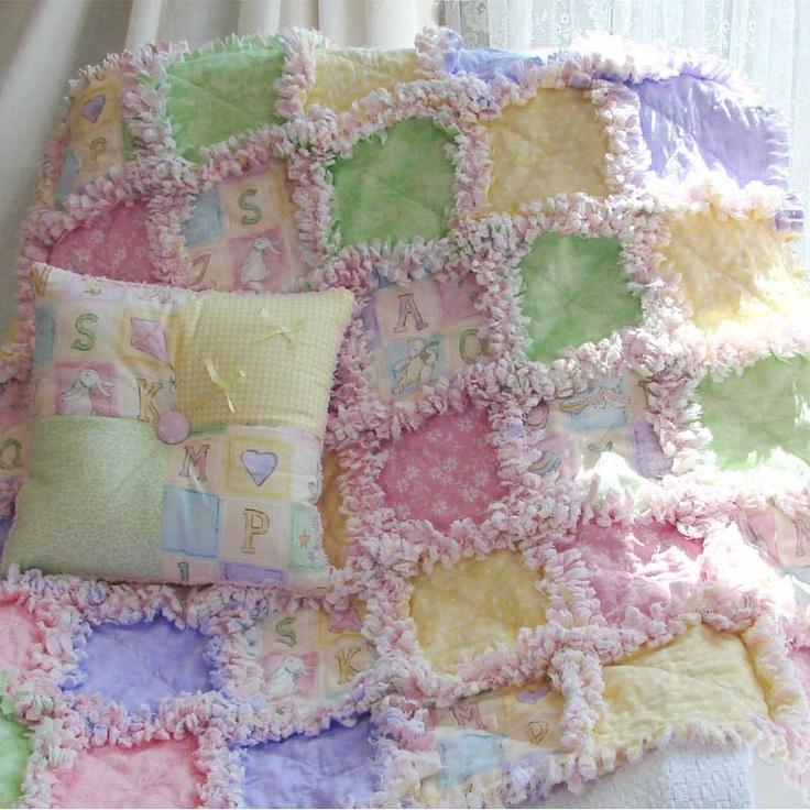 Pastel Baby Rag Quilt