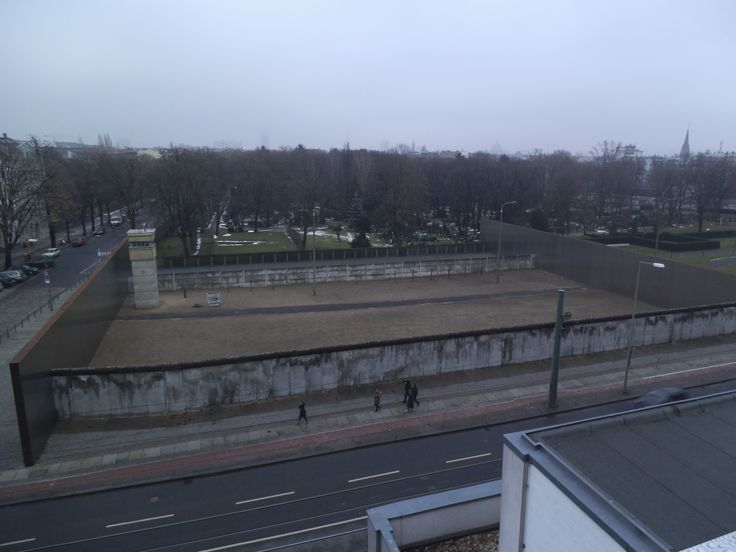 The small section that is left of the Berlin Wall. The iron wall ...
