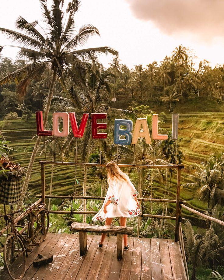 Tegalalang Rice Terraces around Ubud in Bali