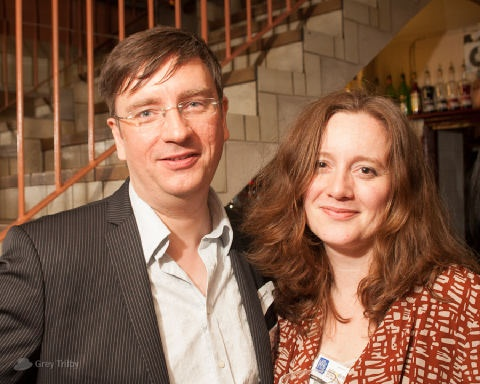 Jon Reed and Suzanne Kavanagh at the Publishing Talk London Book Fair Tweeutup 2012.