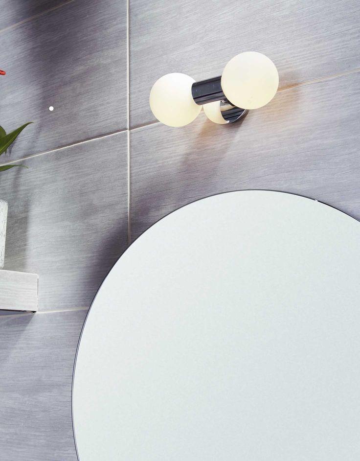 kinkiet - idealne rozwiązanie dla Twojej łazienki #łazienka #oświetlenie #obi #obipolska
