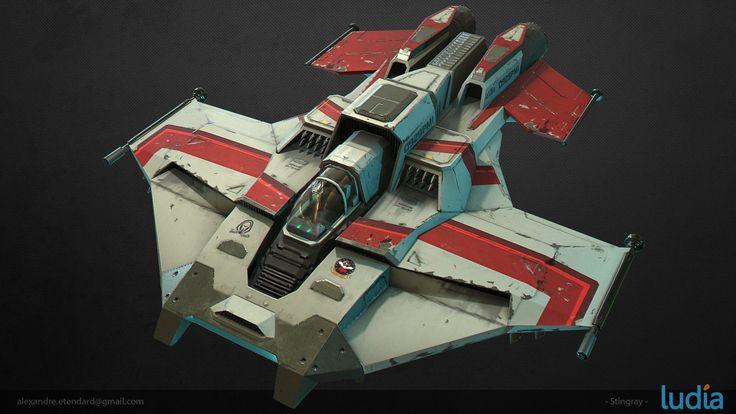 Battlestar Galactica : Squadrons - Stingray, Alexandre Etendard on ArtStation at https://www.artstation.com/artwork/bYPWm