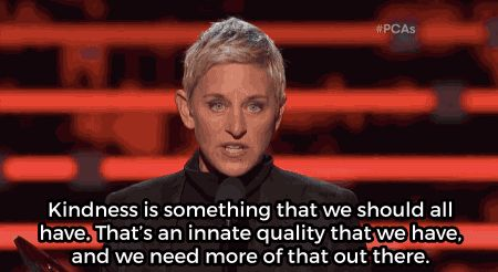 At the People's Choice Awards, Ellen DeGeneres offered a heartwarming look at the power of kindness.