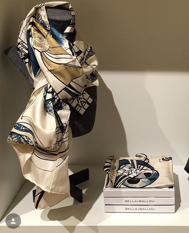 DRAMA QUEEN - silk scarf on display and ready for the perfect recipient