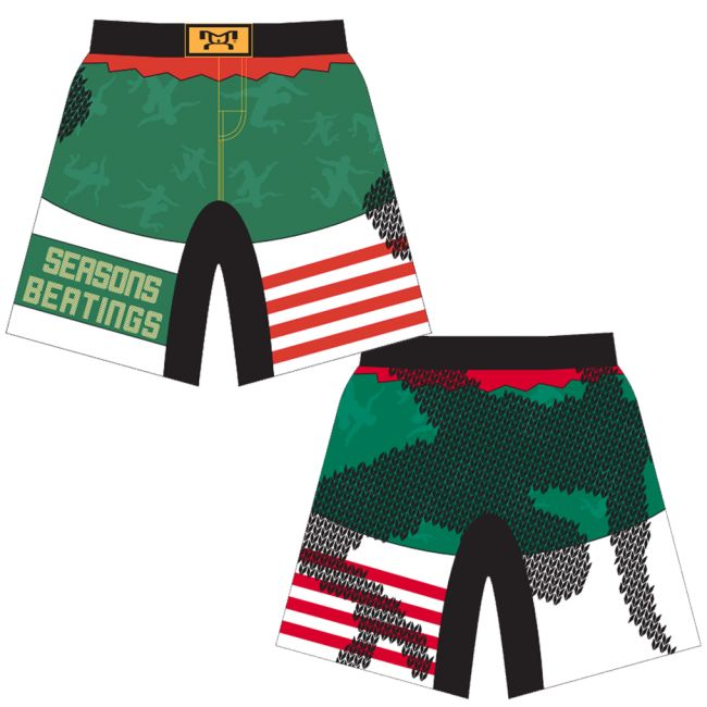 MyHOUSE Seasons Beatings Shorts limited edition 2017 Ugly Christmas Singlet. Now available for Pre-Order Only. To get this singlet guaranteed in hand before Christmas (December 22nd), you MUST have your order placed on or before December 1st. MyHOUSE is the leading seller of custom team #wrestling  gear in the USA.
