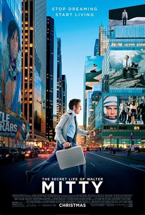 Movie Posters - Movie Posters : The Secret Life of Walter Mitty (2013) dir. Ben Stiller  Movie Posters  :    The Secret Life of Walter Mitty (2013) dir. Ben Stiller