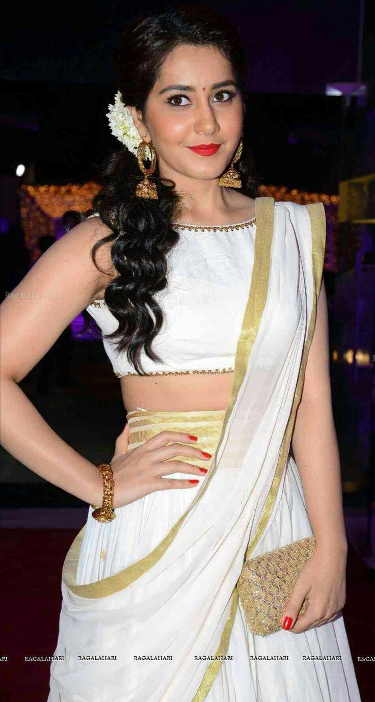 Rashi khanna in white dress