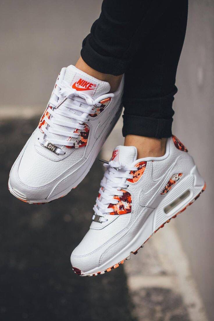 huge selection of 5fc6b 03eb6 womens air max 90 flowers grey white