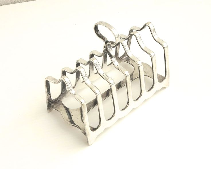 Antique silver plated toast rack, James Dixon & Sons, England, takes 6…