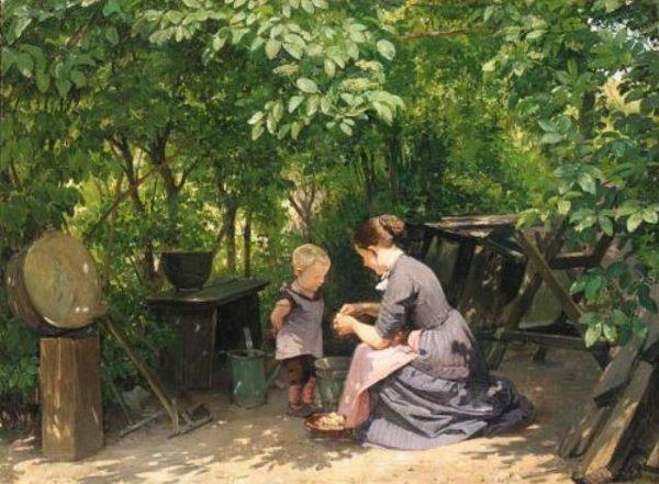 In The Garden Edvard Frederik Petersen (1841 – 1911, Danish)