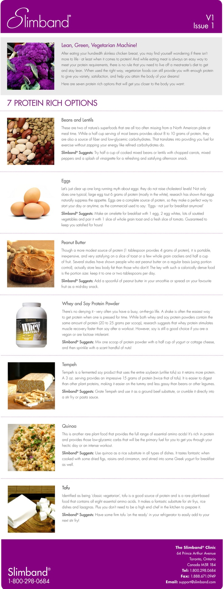 #Slimband 7 #Protein Rich Options - Get more  helpful #Slimband #Handouts at http://slimband.com/tools-and-resources