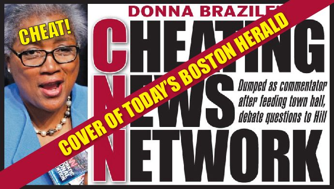 Front Page of the Boston Herald is a HUMILIATING BLOW to #CNN, #Hillary, & the #DNC.Change of POWER STRUCTURE coming