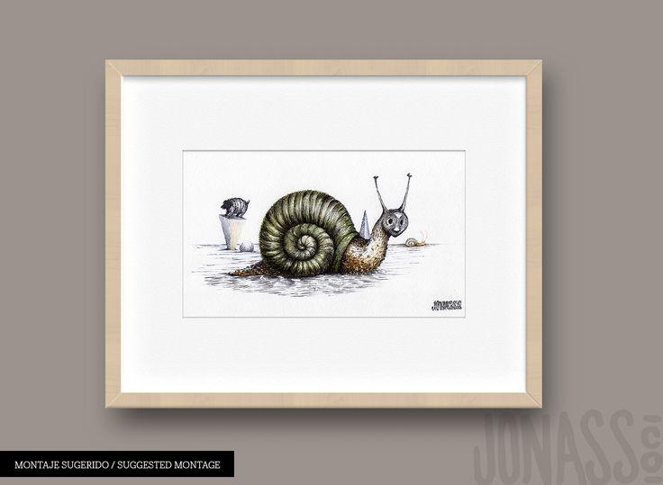#jonassco #caracol #ilustration #ink #surrealismo