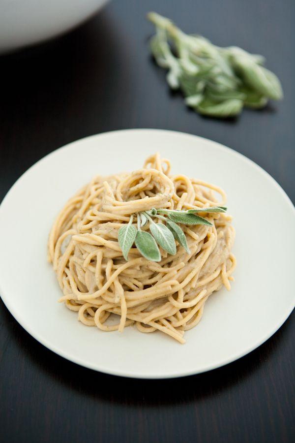 Chestnut, Sage and Prosciutto Spaghetti by EclecticRecipes.com #recipe