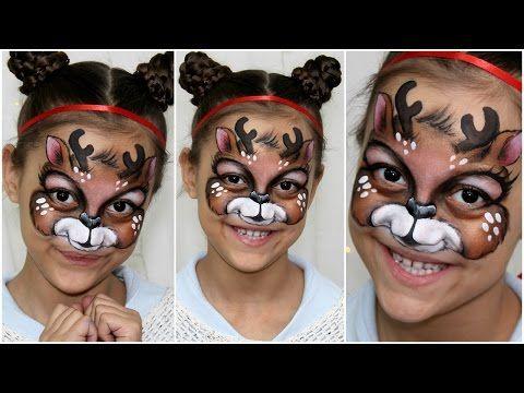 Christmas Reindeer — Face Painting & Makeup Tutorial — Аквагрим на Новый год - YouTube