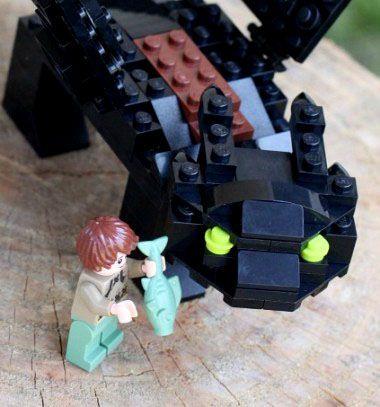 Toothless - Lego nighfury dragon (building instructions) / Fogatlan - Éjfúria lego sárkány (építési útmutatóval) / Mindy - craft tutorial collection