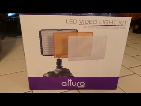 Review And Unboxing Of Altura Led Video Light Kit