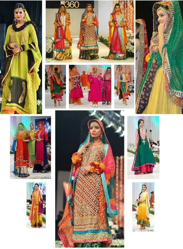 Bridal Couture Week Mehndi Dresses : Pakistani designer dresses for mehndi function women s