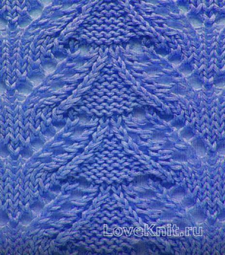 Вязание спицами узор листья №3673 схема