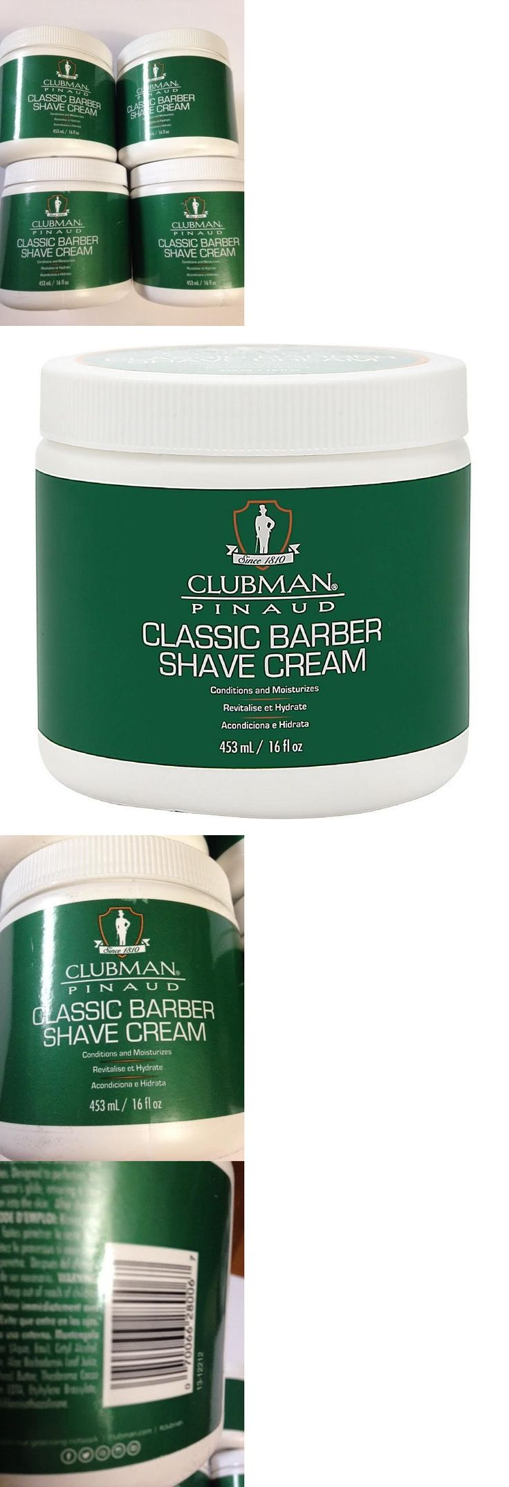 Shaving Creams Foams and Gels: (Lot Of 4 16Oz Tubs) Clubman Pinaud Classic Barber Shave Cream 16 Oz New -> BUY IT NOW ONLY: $31.99 on eBay!