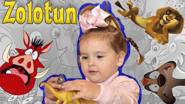 Zolotun - играю с животными! Веселое, смешное видео! Funny kids video! A...